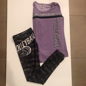 JUSTICE VOLLEYBALL 2 PIECE GIRLS OUTFIT SIZE 16